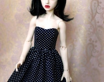 SD13 Black And White Polka Dot Dress For BJD - Last One