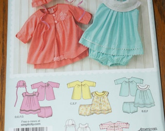 New Simplicity Baby Girl dress pattern 1921A Size xs to l