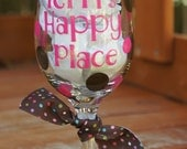 Custom for Ashley Personalized Custom Wine Glasses- Bridal Shower, Bachelorette Parties, Dinner Parties, Initial, or Name