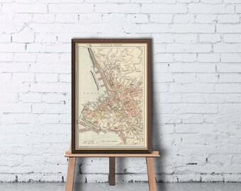 Map of Trieste - Old map - Pianta di Trieste