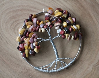 "Mookaite Tree of Life pendant / decoration - 70mm / 2.75"""