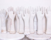 Vintage Porcelain Glove Hand Mold For Displaying Jewelry, 10 Available