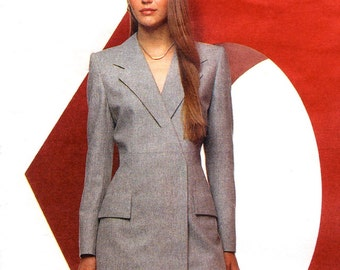 Alexander McQueen for Givenchy double-breasted pantsuit pattern -- Vogue Paris Original 2467
