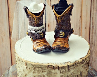 Western-bride and groom-wedding-cake topper-cowboy cowgirl-boots-hat-country western wedding-bachelorette-rustic-southern-cowboy boots-sign