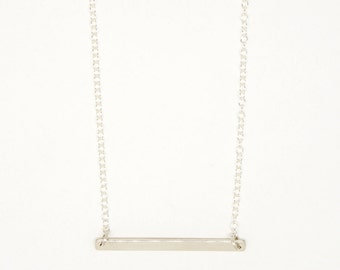 6819 - sterling silver bar necklace
