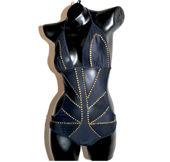 Mad Max - Black Monokini - Bodysuit - Coachella - Burningman -  Swimwear by Luv Warrior
