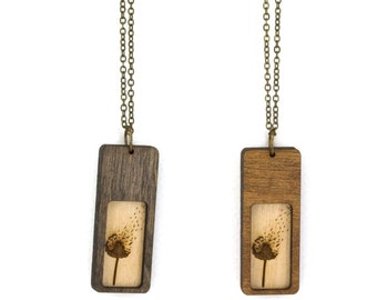 Dandelion Necklace - Handmade - Laser Cut - laser cut jewelry