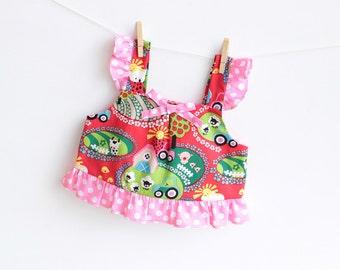 TULIPS Top Baby Girl sewing pattern Pdf , children babies toddler, newborn birth 3 6 9 12 18 months 1, 2 years Instant Download