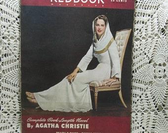Vintage 1941 Redbook Magazine  War Articles Agatha Christie Susan Sommers