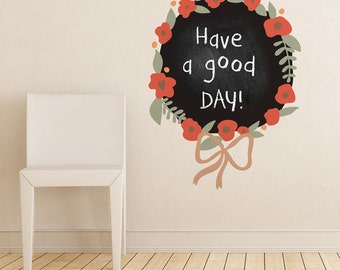 Bouquet Chalkboard Wall Decal