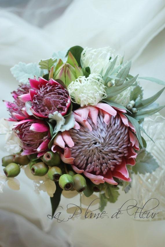 Bridal Flowers Blue Mountains : Adelaide bride s bouquet australian natives king