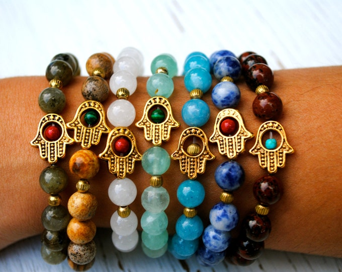 HAMSA Protection Bracelet in Assorted Colors - Gift Boxed