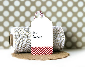 Chevron Washi Tape Tags (Set of 10) - Gift Tags, Heart Tags, Gift Wrapping, Gift Wrap, Packaging, Love, Wedding, Chevron