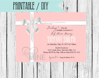 Printable Baby Shower Invitation - Digital File