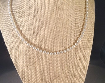 Pearl Necklace/Simple Classci Choice of Color and Length