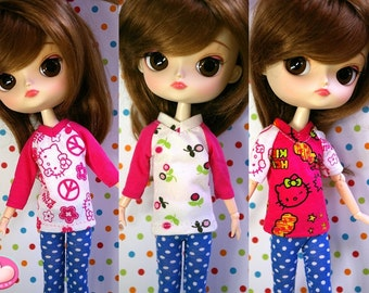 Set of 3 tops for Dal doll SUPER CUTE!