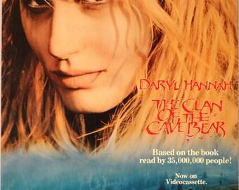 "Clan of the Cave Bear. 1986 Original US 22.25""x35"" Movie Poster. Jean M. Auel Romantic Novel. Daryl Hannah, Pamela Reed, James Remar"