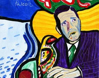 The Matisse Falcon // Humphrey Bogart Maltese Falcon pun art print