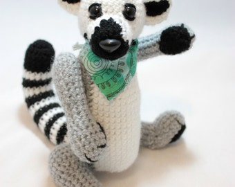 Jointed Ringtail Lemur Doll