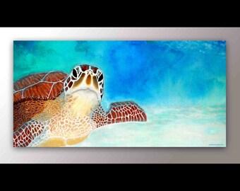 Turtle Art | Sea Turtle Decor | Sea Turtle Print | Playroom Art | Nursery Art | Beach Decor | Wall Art | Turtle Decor | Playroom Decor