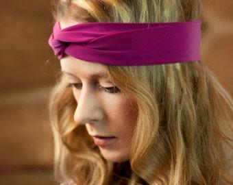 Turban Twist Headband, Womens Headband, Pink Headband, Adult Headband Boho Turband Headband, Workout Headband, Girlfriend Gift for Her,