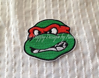 Angry Turtle Inspired Iron on Appliqué
