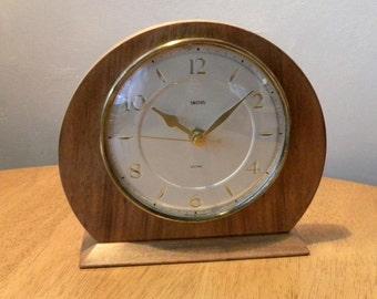 Vintage Smiths Recycled Mantel Shelf Clock 1960s