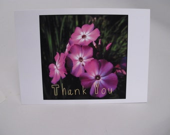 A Simple Thank YOU  4x6  Greeting card  set of 3   Thank You cards Perfect for the 2015 Grad  bright and flowery  Graduation thank you card
