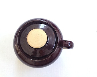 Antique Small Bean Pot Stoneware, Made in the U.S.A., Kitchen Glazed Stoneware,  Rustic Kitchen Pot, For her