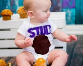 Stud Muffin Bodysuit,Valentines Bodysuit, Boys Bodysuit,Boys Valentine Bodysuit,Stud Muffin Bodysuit, Boys Bodysuit,Childrens Bodysuit,