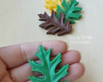 Large Chocolate Leaf Cupcake Toppers (12)