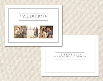 Save the Date Photography Template - 0009 - Photoshop Template