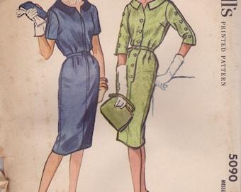 1950s Dress Pattern McCalls 5090 Size 12 Uncut