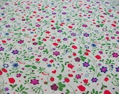 Meadow Shirts Dress Colorful Wildflowers--Garment Weight--Thin Fabric for Linen Apparel--Meadow of small wildflowers and berries