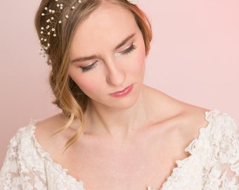 Bridal Hair Accessory, Wedding Hair Halo.