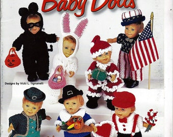 Holiday Baby Dolls Crochet Pattern Book House of White Birches 101102