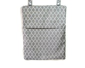 Grey Quatrefoil   Kitchen Hanging wet bag kitchen nursery bathroom cloth diapers unpaper towels flap or zipper