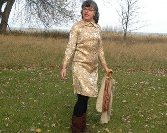 Shimmery Gold Wiggle Dress