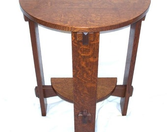 mission half round wedged tennon table free shipping
