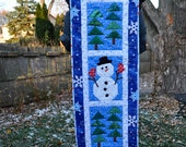 Quilted Snowman Wall Hanging or Table Runner
