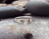 Sterling silver ring, Personalized intial ring, couples ring, mothers ring