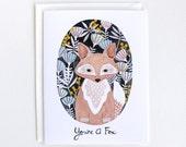 Greeting Card - Woodland Fox Card - You're A Fox Card
