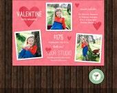 INSTANT Download Valentine Mini Session Marketing Template / Board - E43