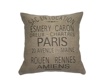 French Country Esmery Caron Grain Sack Pillow