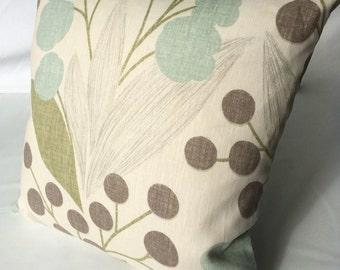 Robert Allen Natural Linen Pillow Cover, 19 x 19, Designer throw pillows