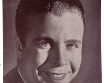 Headshot of Dick Powell Offset Printing on Lightweight Stock Promotional Photo Zane Grey Theater