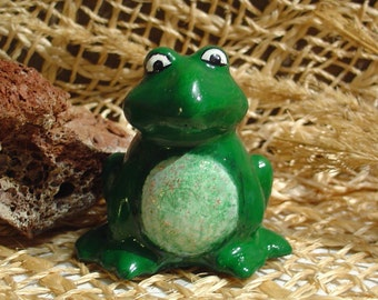 Frog - Cement Statue Figurine - Indoor Outdoor Decoration - Free Shipping