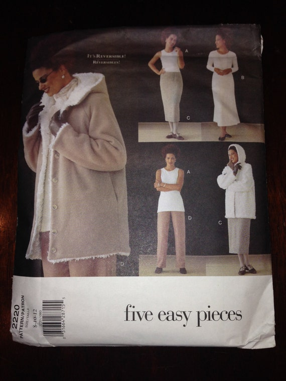 Vogue 90s Sewing Pattern 2220 Misses/Misses Petite Jacket, Dress, Top, Skirt and Pants Size 8-10-12