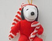 Rare Snoopy Plush Christmas Ornament.