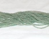 "Green Aventurine 4mm Round Gemstone Beads B Grade - 15.75"" Strand"